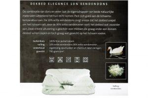 Elbatex Bedmode: Diamant Elegance 10% dons dekbed