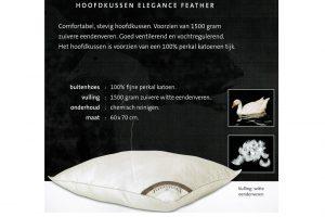 Elbatex Bedmode: Diamant Elegance hoofdkussen
